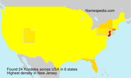 Surname Kozdeba in USA