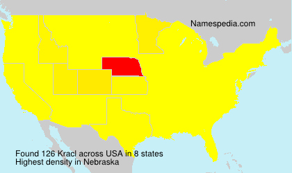 Surname Kracl in USA