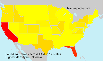 Surname Krames in USA