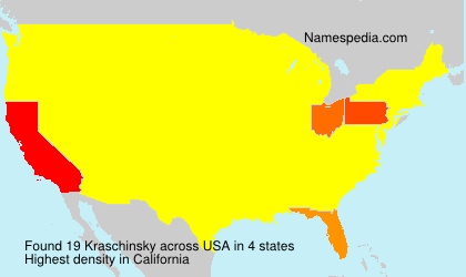 Surname Kraschinsky in USA