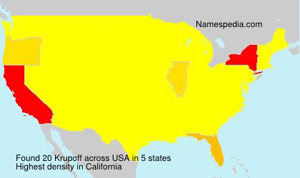 Familiennamen Krupoff - USA