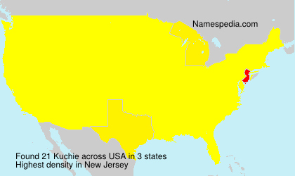 Surname Kuchie in USA