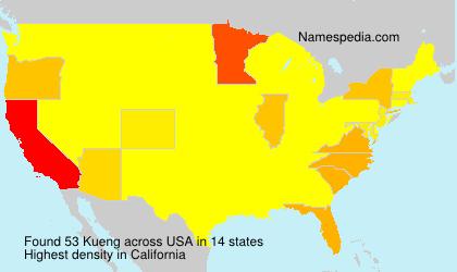 Familiennamen Kueng - USA