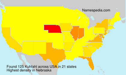 Surname Kuhfahl in USA
