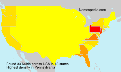 Surname Kuhla in USA