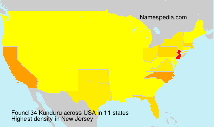 Surname Kunduru in USA