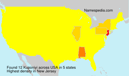 Surname Kuponiyi in USA