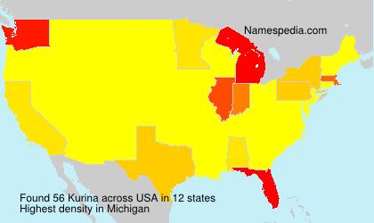 Surname Kurina in USA