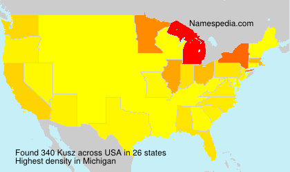 Familiennamen Kusz - USA
