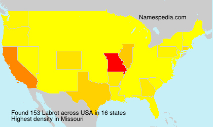 Surname Labrot in USA