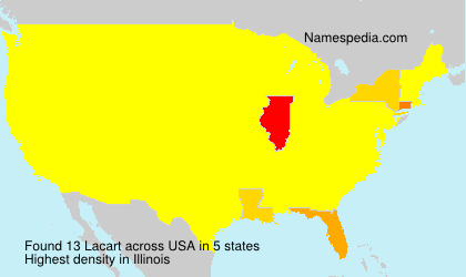 Surname Lacart in USA