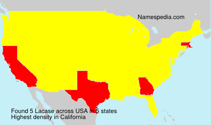 Surname Lacase in USA