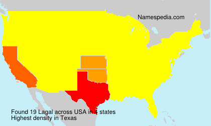 Surname Lagal in USA