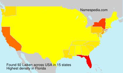 Surname Laiken in USA