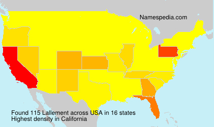 Surname Lallement in USA