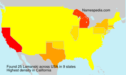 Surname Lamanski in USA
