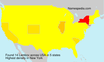 Surname Lambov in USA