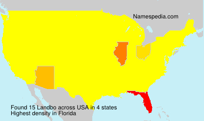Familiennamen Landbo - USA