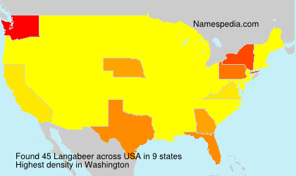 Surname Langabeer in USA