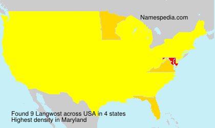 Surname Langwost in USA