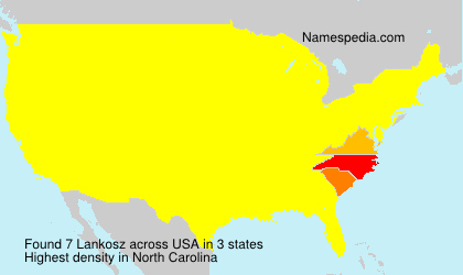 Surname Lankosz in USA