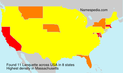 Surname Lanquette in USA