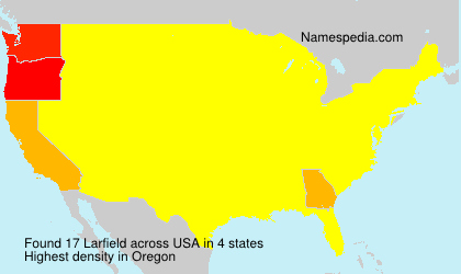 Surname Larfield in USA
