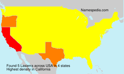 Surname Lasierra in USA
