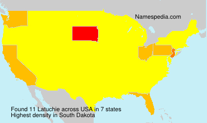 Surname Latuchie in USA