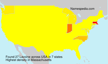 Surname Lavoine in USA