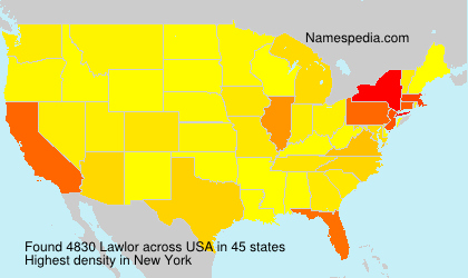 Surname Lawlor in USA
