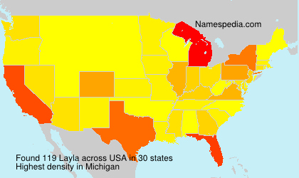 Surname Layla in USA