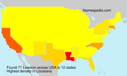 Surname Learson in USA