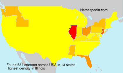 Surname Lefferson in USA