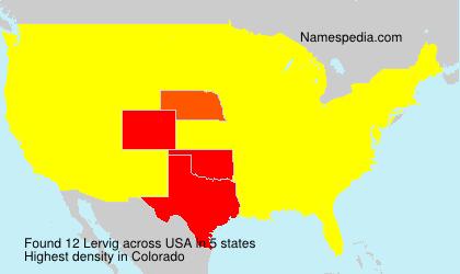 Surname Lervig in USA