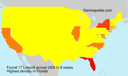 Surname Lessoff in USA