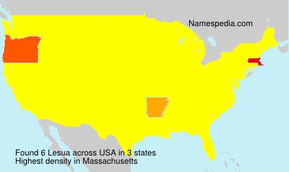 Surname Lesua in USA
