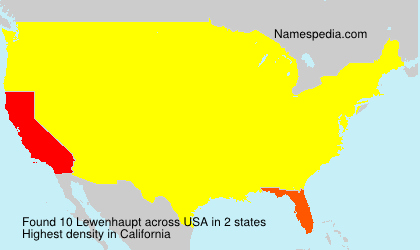 Surname Lewenhaupt in USA