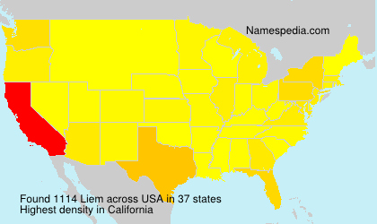 Surname Liem in USA