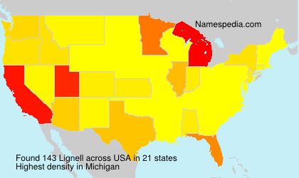 Surname Lignell in USA