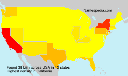 Surname Lijin in USA