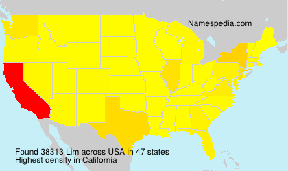 Surname Lim in USA
