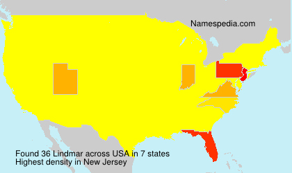 Surname Lindmar in USA