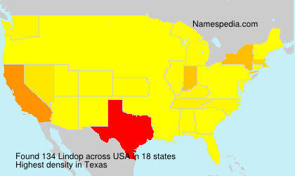 Surname Lindop in USA