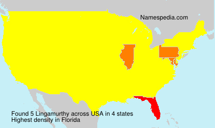 Surname Lingamurthy in USA