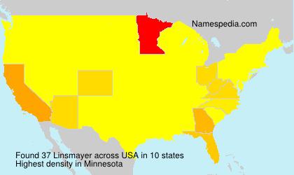 Surname Linsmayer in USA