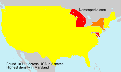 Surname Liut in USA