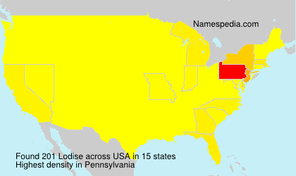 Surname Lodise in USA