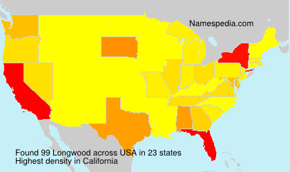 Surname Longwood in USA