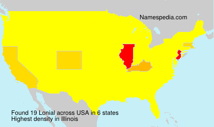 Surname Lonial in USA